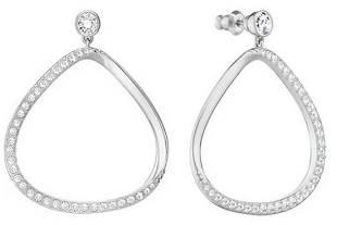 New Swarovski Jewelry Gaya Pierced Earrings White