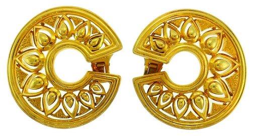 Vintage Cartier 18k Yellow Gold EARRINGS Estate Jewelry