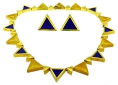 Maramenos & Pateras Yellow Gold Necklace Earrings SET