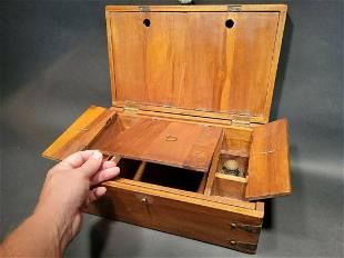 Travel Wood Writing Set Desk Box