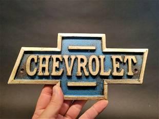 Cast Iron Chevy Chevrolet Car Plaque Sign