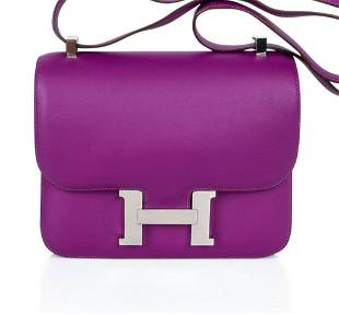 Hermes Constance 24 Bag Rare Anemone Double Gusset