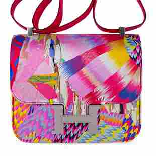 Hermes Constance Bag 24 Limited Edition Marble Silk