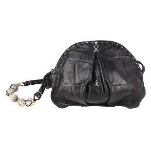 Henry Beguelin Bag Mini Black Turtle Stamped Leather