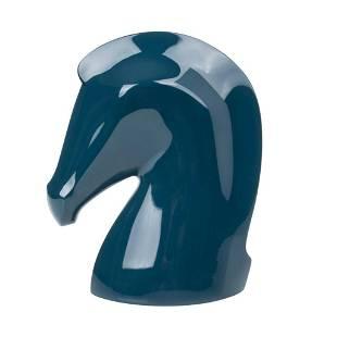 Hermes Samarcande Horse Head Paperweight Bleu Chrome