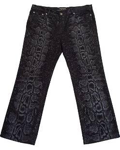 Roberto Cavallo Black Snake Print Jeans