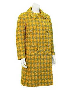 Anonymous Anonymous Yellow & grey houndstooth suit