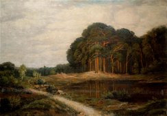 Oil painting Old forest