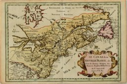 1683 Sanson Map Great Lakes to Newfoundland -- Le