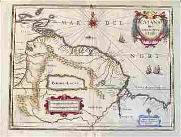 Amazon region and Guyana's, c1635 by J. jansson.