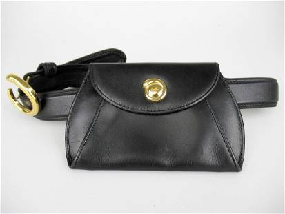 """""""CARTIER"""" """"Panthere"""" belt bag in black leather"""