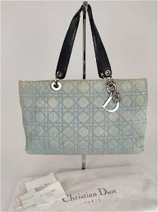 "CHRISTIAN DIOR ""Lady Dior"" Denim shopper bag in light"