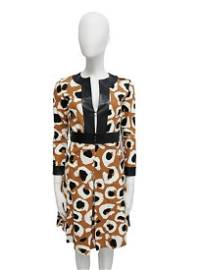 GUCCI Dress in 100% cotton, with leather inserts