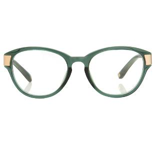 Oscar De La Renta Eyeglasses Oval Green and Clear