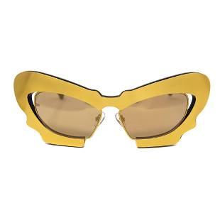 Prabal Gurung Sunglasses Cat Eye Gold