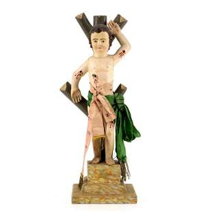 Saint Sebastian - Wood Sculpture - 18th/19th century