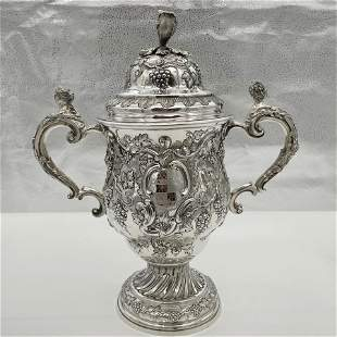Mid 18th Century Antique George II Large Rococo Silver