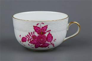 Herend Chinese Bouquet Raspberry Tea Cup #1726/AP