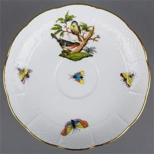 Herend Rothschild Bird Saucer #706/RO, Motif #2