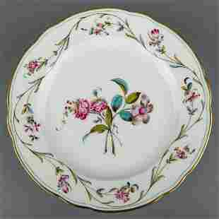 Herend Antique Floral Pattern Dinner Plate from 1910
