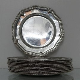 18th Century Antique Sterling Silver George II Set of