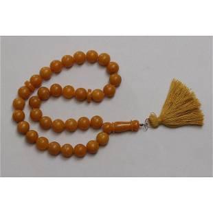 48 g. Natural Baltic amber rosary imam amber mala