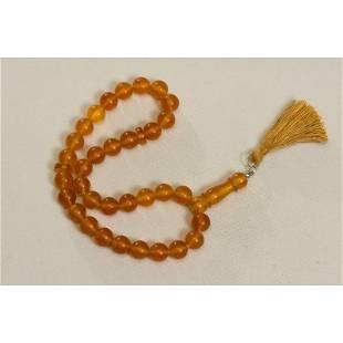 41 g. Natural Baltic amber rosary imam cognac amber