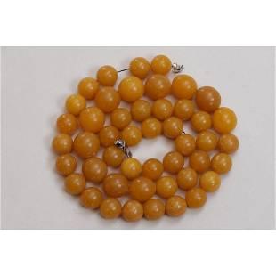 70 g. Baltic amber necklace butterscotch vintage