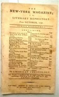 1790 New York Magazine Franklin Constitution