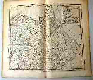 1755 Kitchin Four Panel Map Europe