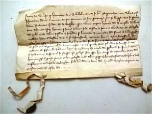 1327 Medieval Latin Legal Manuscript