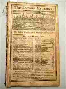 1766 London Magazine Indians Pontiac Stamp Act