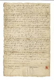 1781 Massachusetts Deed Sunderland GravesFamily