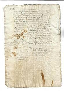1680 Colonial Peru Manuscript Legal Document