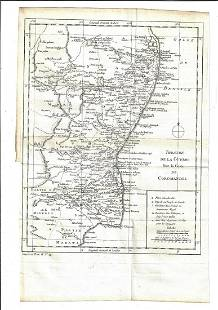 1760 Map Theatre Guerre Coromandel India