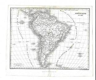1820 Renouard Map of South America