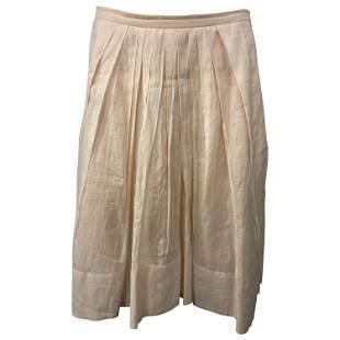 Sonia Rykiel Cream/ Ivory Cotton Ruffled Skirt, Size 38