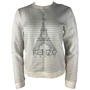 Kenzo Paris Grey Pullover Sweater, Size Large