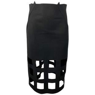 Nancy Stella Soto Black Wool Skirt, Size Medium
