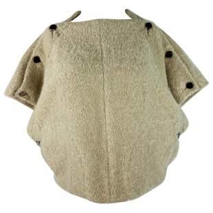 Haute Beige Short Sleeves Sweater Top Poncho
