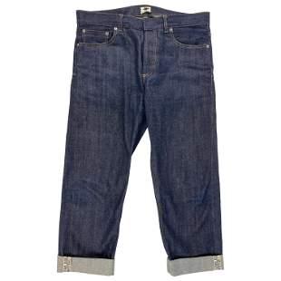 Christian Dior Dark Blue Denim Jeans Pants, Size 40