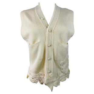 Matsuda Nicole Tokyo Ivory Knit Vest