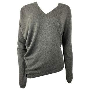 Barbara Bui Grey Cashmere Long Sleeves Pullover Sweater