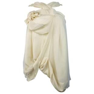 Christian Dior Boutique Paris White Silk Sleeveless Top