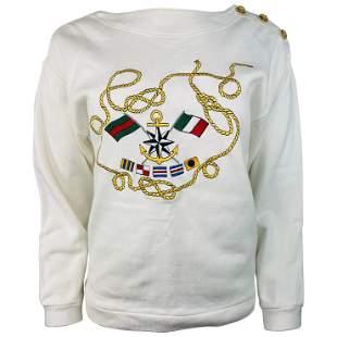 Vintage Gucci White Cotton Pullover Sweater Size S