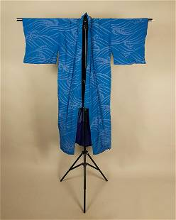 BLUE COTTON KIMONOS WAVE DESIGN