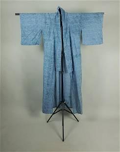 BLUE FLORAL COTTON KIMONO