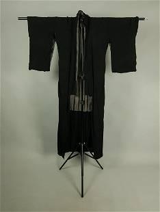 BLACK KIMONO SILK