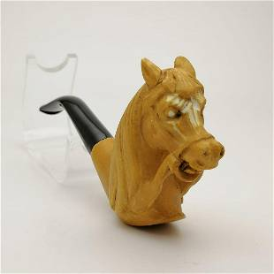 Horse,Hand carved Meerschaum Pipe
