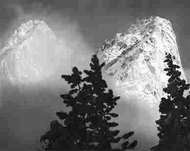 ANSEL ADAMS - Eagle Peak, Middle Brother, Yosemite